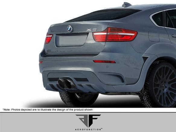 2008-14 BMW X6 E71 AF-5 Aero Function ワイドボディキット エアロ 16点セット フロント/リア バンパー オーバーフェンダー スカートなど_画像9
