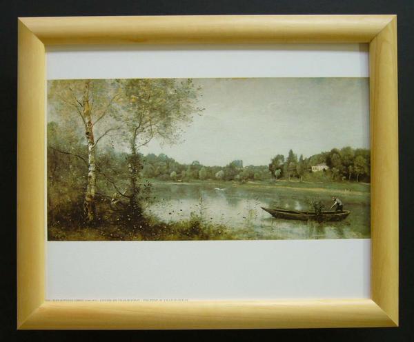 名画ポスター COROT「The pond at bille-D」-新品-即決-_画像1