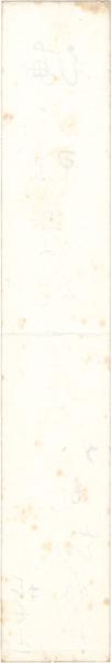 自筆短冊 ◆ 山口誓子(俳人) #387_裏面。