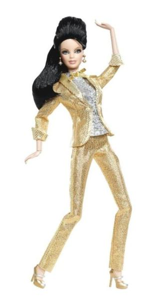 ★バービー ドール Barbie Loves Elvis ! ピンク ラベル ! 人形 エルヴィス プレスリー Presley rockabilly_画像1