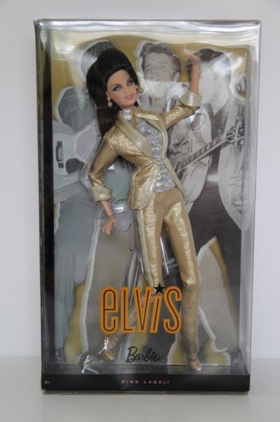 ★バービー ドール Barbie Loves Elvis ! ピンク ラベル ! 人形 エルヴィス プレスリー Presley rockabilly_画像2