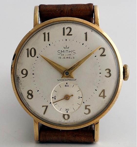 【<】1962年英国スミス社製腕時計・デラックス(9金無垢)_SMITHS_1976B-b