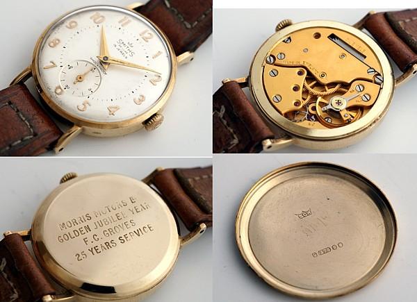 【<】1962年英国スミス社製腕時計・デラックス(9金無垢)_SMITHS_1976B-c