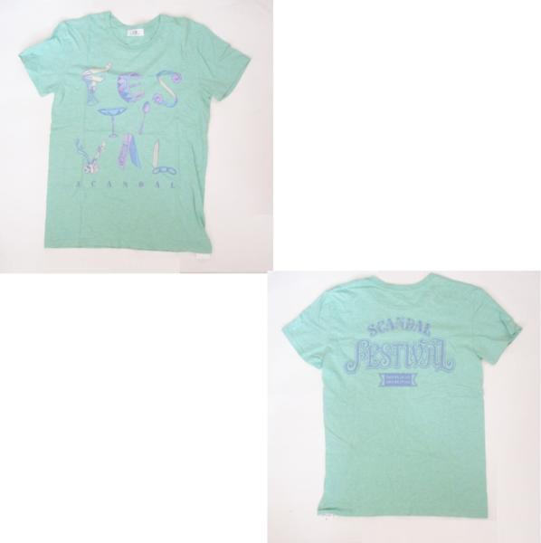 SCANDAL ARENA LIVE 2014『360°』&『FESTIVAL』 FESTIVAL Tシャツ グリーン スキャンダル グッズ ライブグッズの画像
