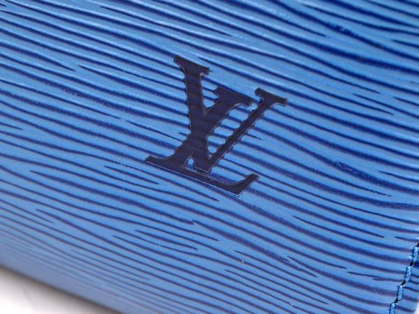 46226♪ルイ・ヴィトン/ スピーディ30/ ボストンバッグ/ ハンドバッグ/ エピレザー/ トレドブルー 青/ 袋・パドロック・鍵付_画像9