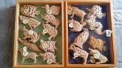 自然素材の玩具 立体3Dパズル④イヌ 1 (座)