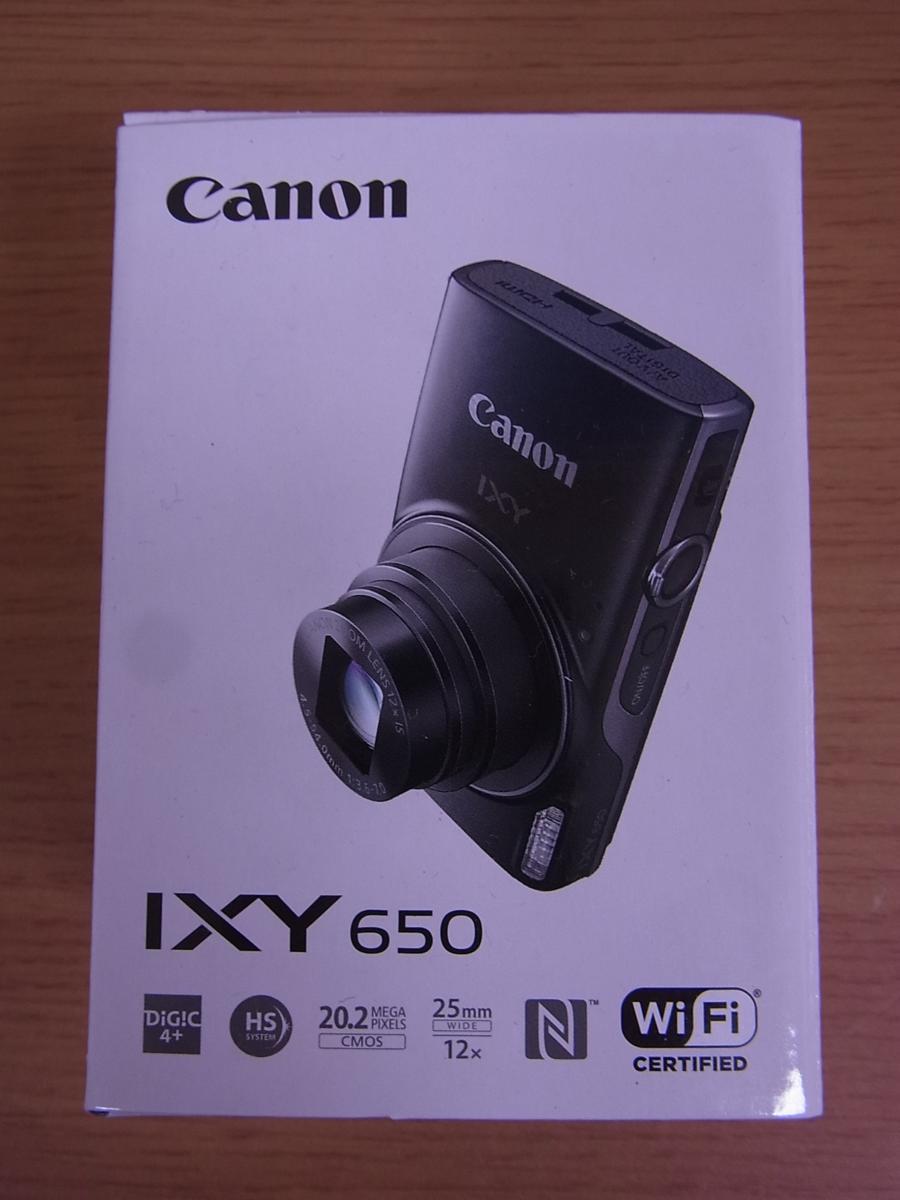 ★キャノン デジタルカメラ IXY 650 ブラック 新品未開封 保証付