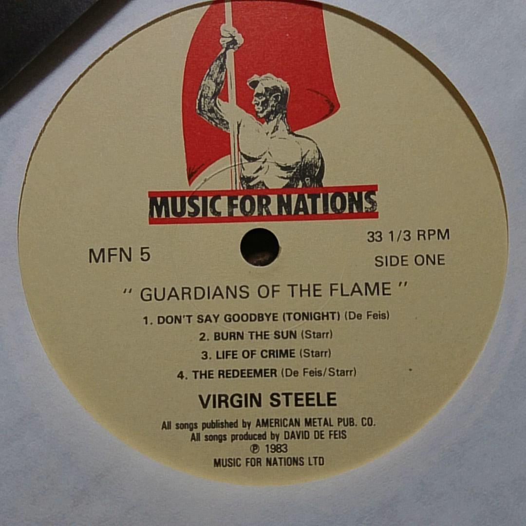 VIRGIN STEELE GUARDIANS OF THE FLAME★UK盤 ★アナログ[45NP_画像5