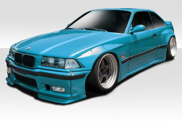 1992-1998 BMW 3シリーズ M3 E36 クーペ Duraflex サーキット ワイドボディキット12点セット オーバーフェンダー スポイラー ウィング 他_画像1