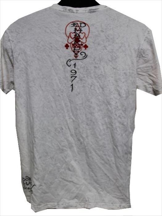 エドハーディー ED HARDY メンズ半袖Tシャツ Lサイズ SB437 ライトグレー 新品 アメリカ製_画像4