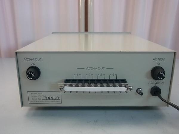 ■■【即決】HITACHI 日立 防犯カメラ・監視カメラ用 電源装置 PU-104 AC24V 4系統 駆動ユニット_画像1