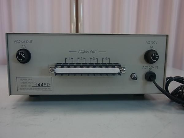 ■■【即決】HITACHI 日立 防犯カメラ・監視カメラ用 電源装置 PU-104 AC24V 4系統 駆動ユニット_画像3