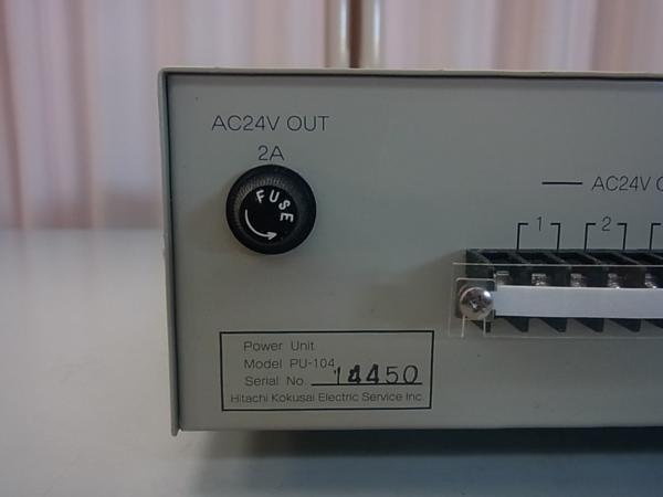 ■■【即決】HITACHI 日立 防犯カメラ・監視カメラ用 電源装置 PU-104 AC24V 4系統 駆動ユニット_画像6