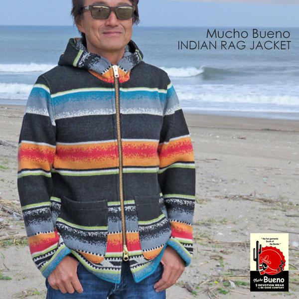 新品/MUCHO BUENO/ムーチョブエノ/インディアン/ラグジャケット/bk/L_MUCHO BUENO インディアンラグジャケット