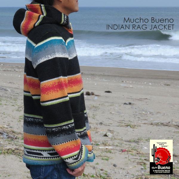 新品/MUCHO BUENO/ムーチョブエノ/インディアン/ラグジャケット/bk/L_大人のカジュアル。
