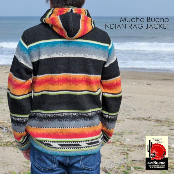 新品/MUCHO BUENO/ムーチョブエノ/インディアン/ラグジャケット/bk/L_長く愛用して頂ける品質です。