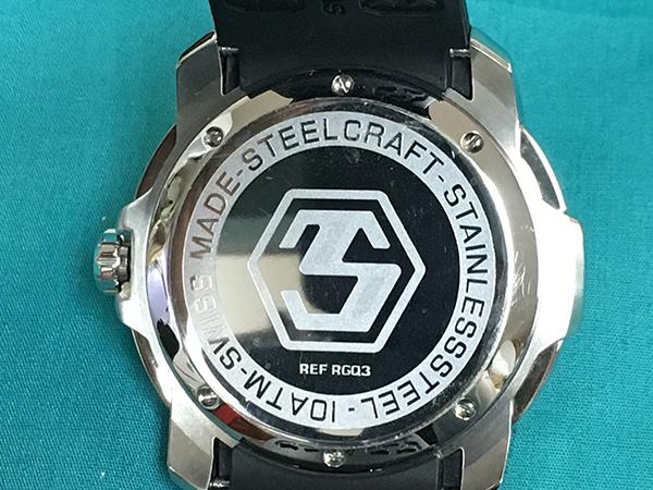 極美品■STEEL CRAFT SCレーシング ラウンドジェントルマン 3ハンド クォーツ定価5.5万スイス正規アウトレットZE-2_画像4
