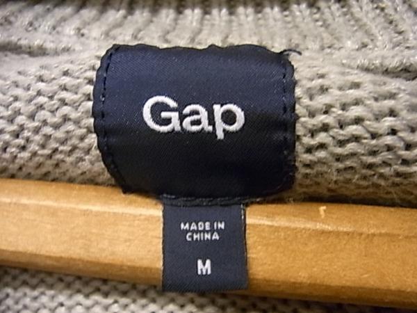 GAP コットンニット ショールカラー カーディガン SIZE M グレー ギャップ_画像3