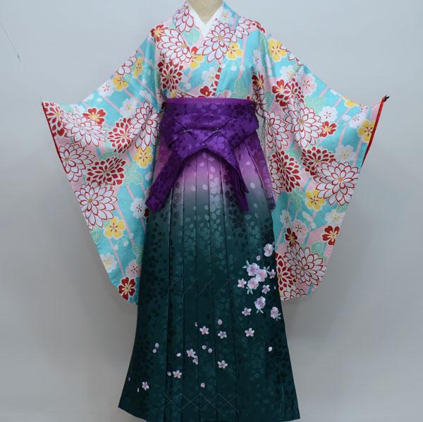 着物袴セット ジュニア用へ直し144cm~150cm H・Lアッシュ・エル 新品 (株)安田屋_画像2