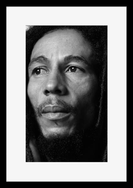 BW:人気ジャマイカ・レゲエバンド!Reggae/ボブ・マーリー&ザ・ウェイラーズ/Bob Marley & The Wailers/モノクロ写真フレーム-1