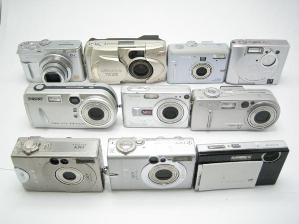 ★ハロ-カメラ★5095 Canon IXY DIGITAL 500 【500万画素】 ・含むデジタルカメラ・ジャンク品・10台【同梱不可】