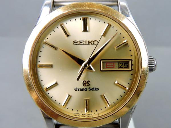 SEIKO セイコー GS グランドセイコー 9F83-9A20 Cal.9F83 18Kベゼル クオーツ メンズ腕時計