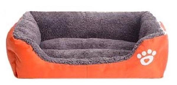 新品■JOSS PET LAND 犬 猫 ペット用 ベッド スクエア型 ソファ クッション 水洗い可能 (M オレンジ)■_画像2