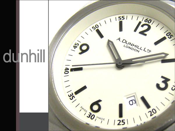 クリーニング済 ダンヒル 8051 トノー ヴァニラ文字盤 メンズ 時計 レア