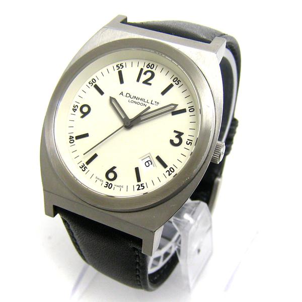 クリーニング済 ダンヒル 8051 トノー ヴァニラ文字盤 メンズ 時計 レア_画像2
