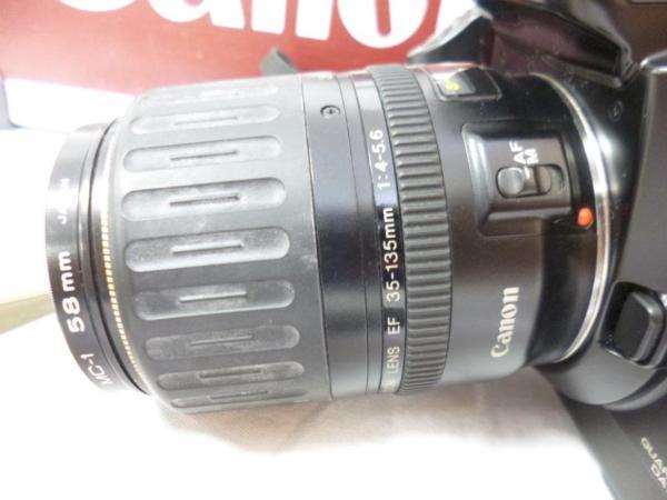 CANON キャノン EOS5QD EF 35-135mm F4-5.6 レンズ2本 フラッシュ 430EZ ハードケースまとめてジャンク_画像3