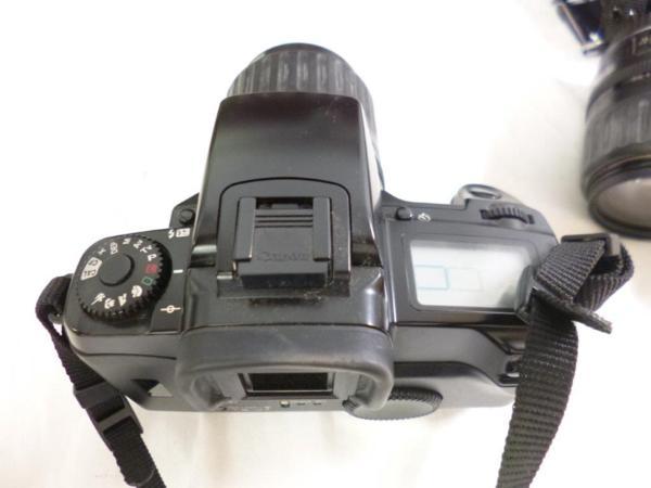 CANON キャノン EOS5QD EF 35-135mm F4-5.6 レンズ2本 フラッシュ 430EZ ハードケースまとめてジャンク_画像4