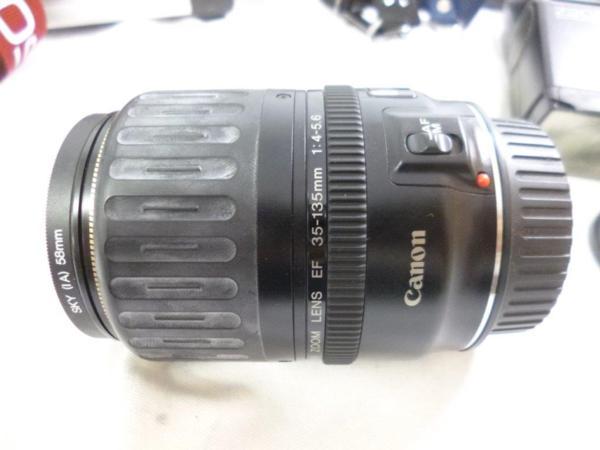 CANON キャノン EOS5QD EF 35-135mm F4-5.6 レンズ2本 フラッシュ 430EZ ハードケースまとめてジャンク_画像6