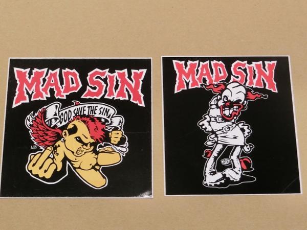 新品 Mad Sin ステッカー 2枚組 マッドシン サイビリー