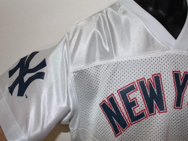 ヤンキース Majestic New York Yankees メンズ半袖シャツ ホワイト Mサイズ 新品_画像3