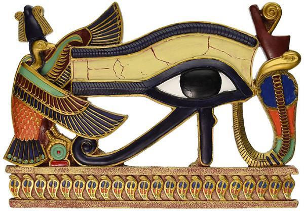 エスニック彫刻 古代エジプトのシンボル ホルス神の目 壁彫像 壁彫刻/ Design Toscano Egyptian Eye of Horus Wall Sculpture,[輸入品_画像1