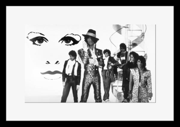 BW:人気ロックバンド!プリンス&ザ・レヴォリューション/Prince and The Revolution/モノクロ写真フレーム-1
