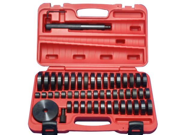油圧プレス アダプター アタッチメントセット オイルシール ブッシュ ベアリングの圧入工具 18mm-74mm 【49サイズ】 ハードケース付き