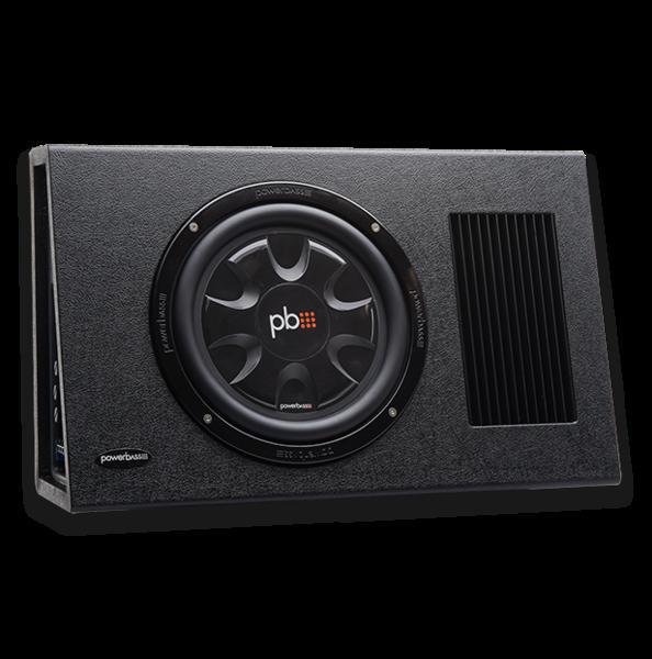■USA Audio■アメリカのパワーバスPowerBass 25cm ●アンプ内蔵●薄型サブウーハーBOX PS-AWB101T●Max.325W ●保証付●税込_画像1