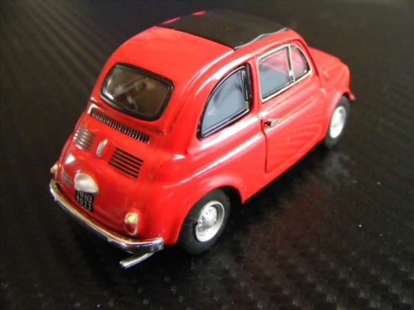■ FIAT 500 RED フィアット500 キャンパスルーフ仕様 ノレブ製 スケール1/43 ダイキャストモデルカー!_画像8