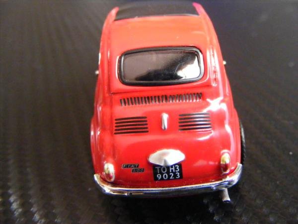 ■ FIAT 500 RED フィアット500 キャンパスルーフ仕様 ノレブ製 スケール1/43 ダイキャストモデルカー!_画像7