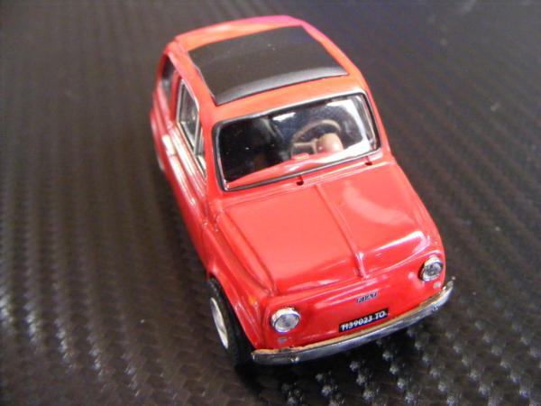 ■ FIAT 500 RED フィアット500 キャンパスルーフ仕様 ノレブ製 スケール1/43 ダイキャストモデルカー!_画像6