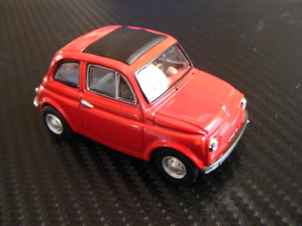 ■ FIAT 500 RED フィアット500 キャンパスルーフ仕様 ノレブ製 スケール1/43 ダイキャストモデルカー!_画像2