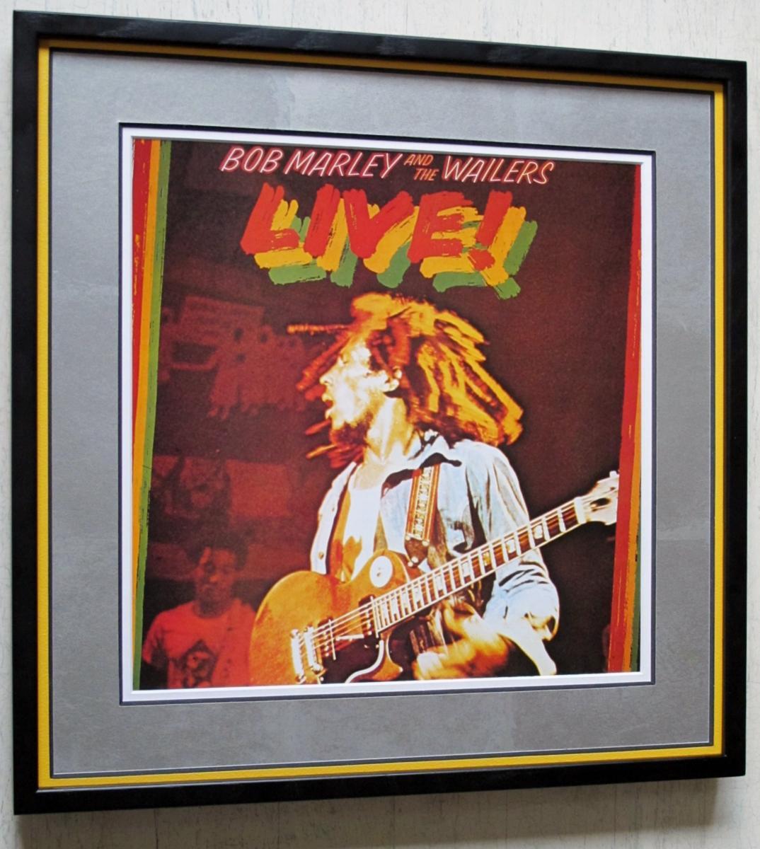 ボブ・マーリー/レコードジャケット ポスター額装/Live!/Bob Marley & the Wailers/Bob Marley/レゲエ クラシック/Framed Reggae Art