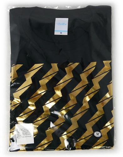 でんぱ組.inc/ビリビリ Tシャツ【黒×金】(M)◆新品Ss