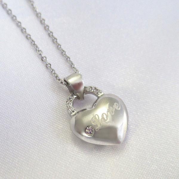 新品 鍵 ハート Love ダイヤモンド デザイン ネックレス  _画像2