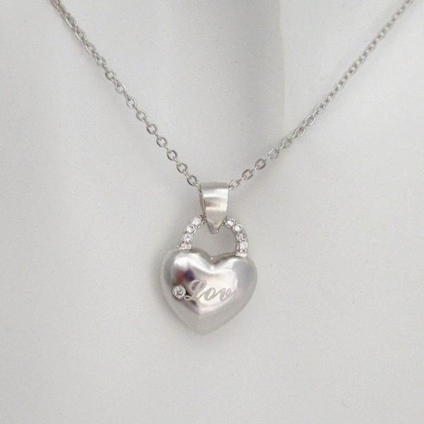 新品 鍵 ハート Love ダイヤモンド デザイン ネックレス  _画像1
