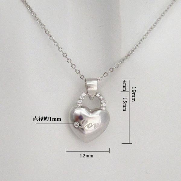 新品 鍵 ハート Love ダイヤモンド デザイン ネックレス  _画像4