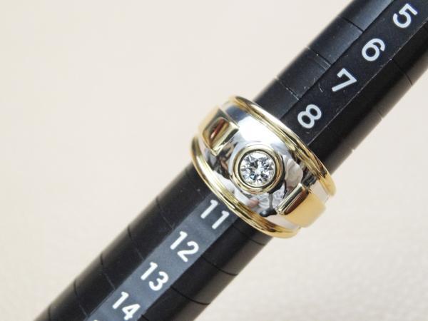 ★美品★カルティエ Cartier ダイヤモンド ワイドリング 0.25ct #50 K18★_画像4