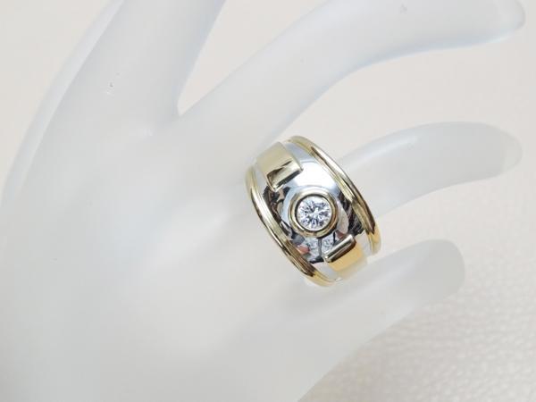 ★美品★カルティエ Cartier ダイヤモンド ワイドリング 0.25ct #50 K18★_画像5