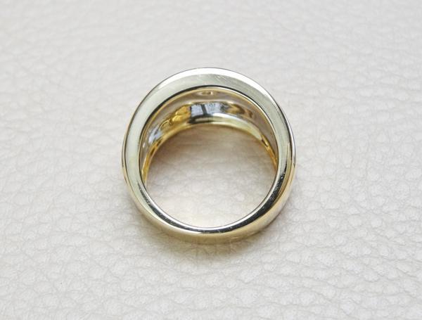 ★美品★カルティエ Cartier ダイヤモンド ワイドリング 0.25ct #50 K18★_画像2